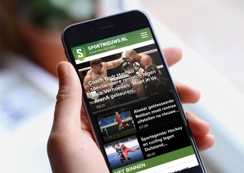 Afbeelding voor Een hogere conversie met een mobile-first website voor Sportnieuws