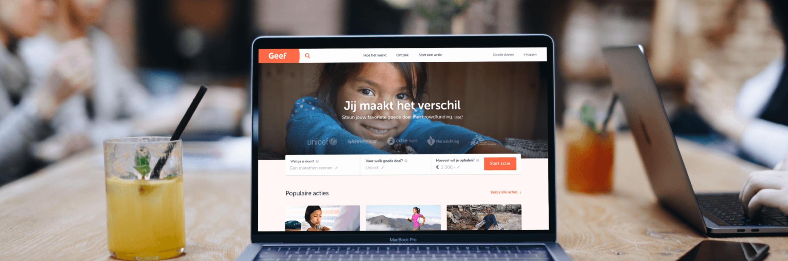 Banner for Het heruitvinden van donatiewebsite Geef.nl