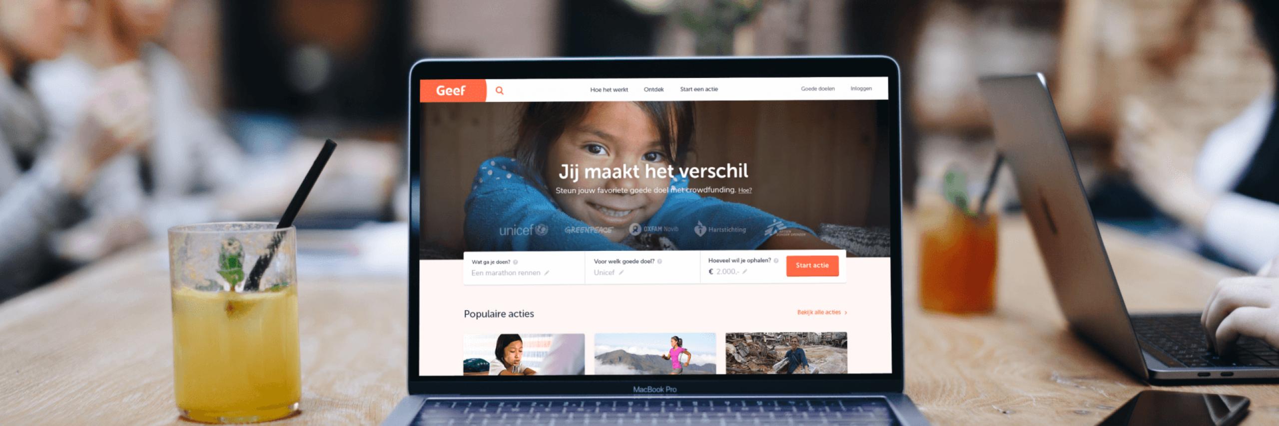 Banner for Heruitvinden van Geef.nl