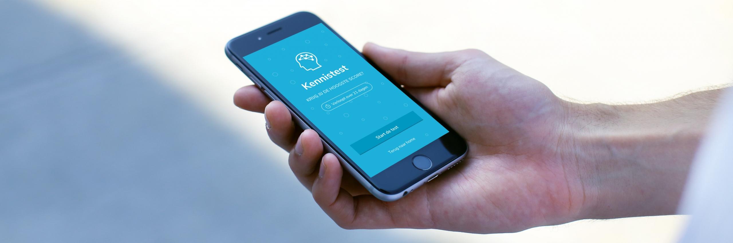 Banner for Kennis van Radboudumc-personeel verhogen met een mobiele app