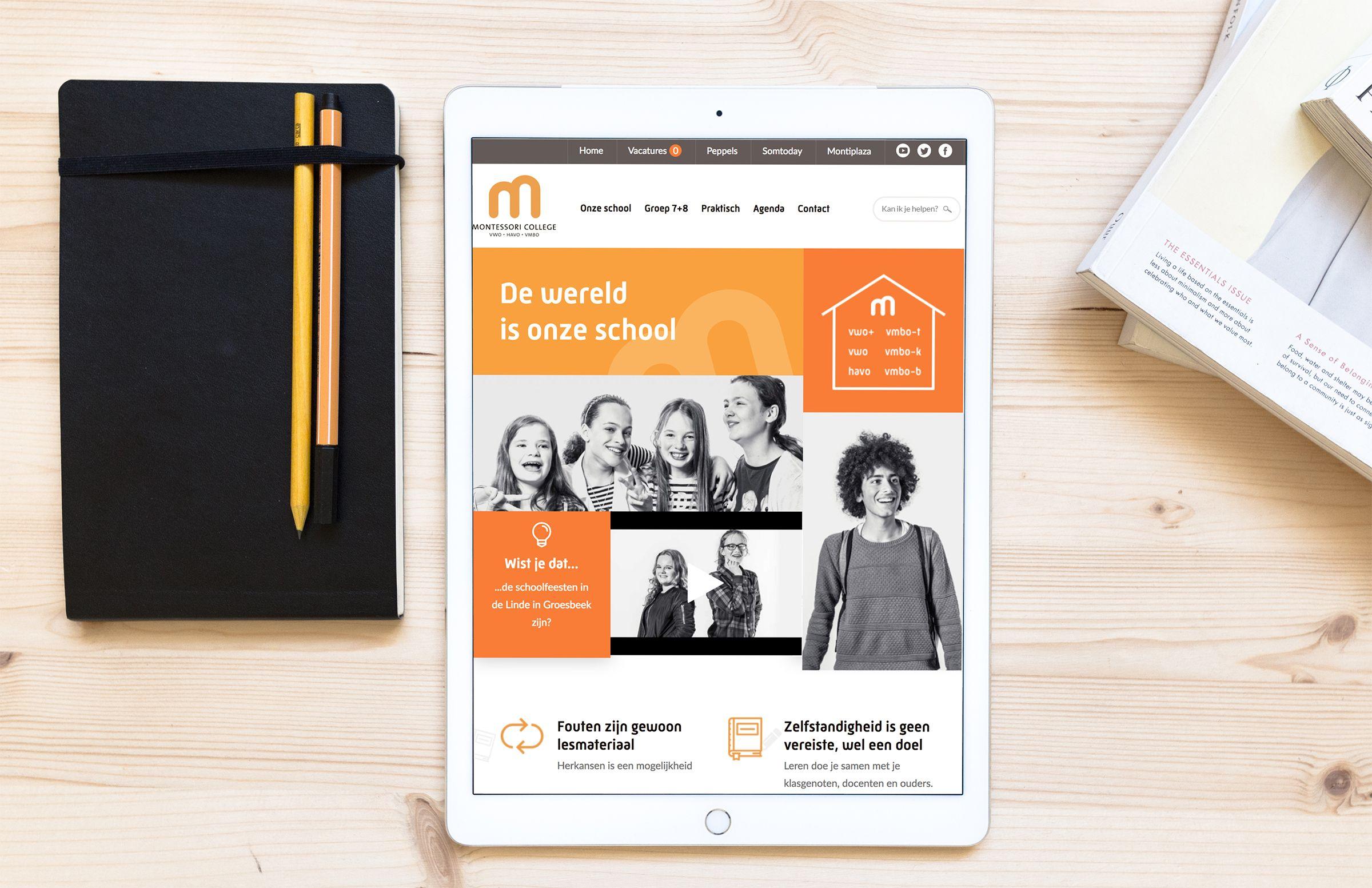 Afbeelding voor Montessoricollege.nl: een website voor jong en oud