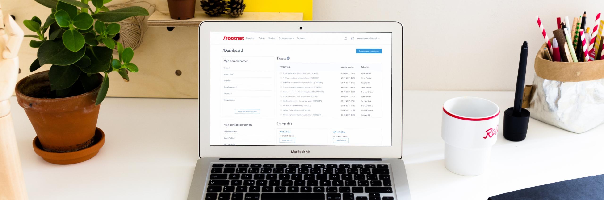 Banner for Hoe Rootnet klanten beter bedient met onze webapplicatie