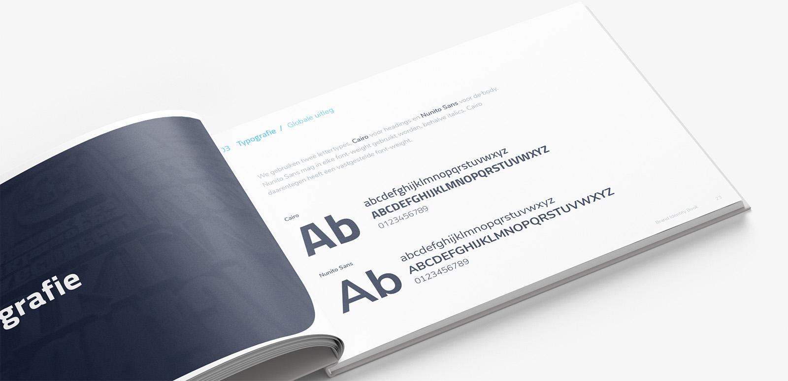 brand book voorbeeld typografie