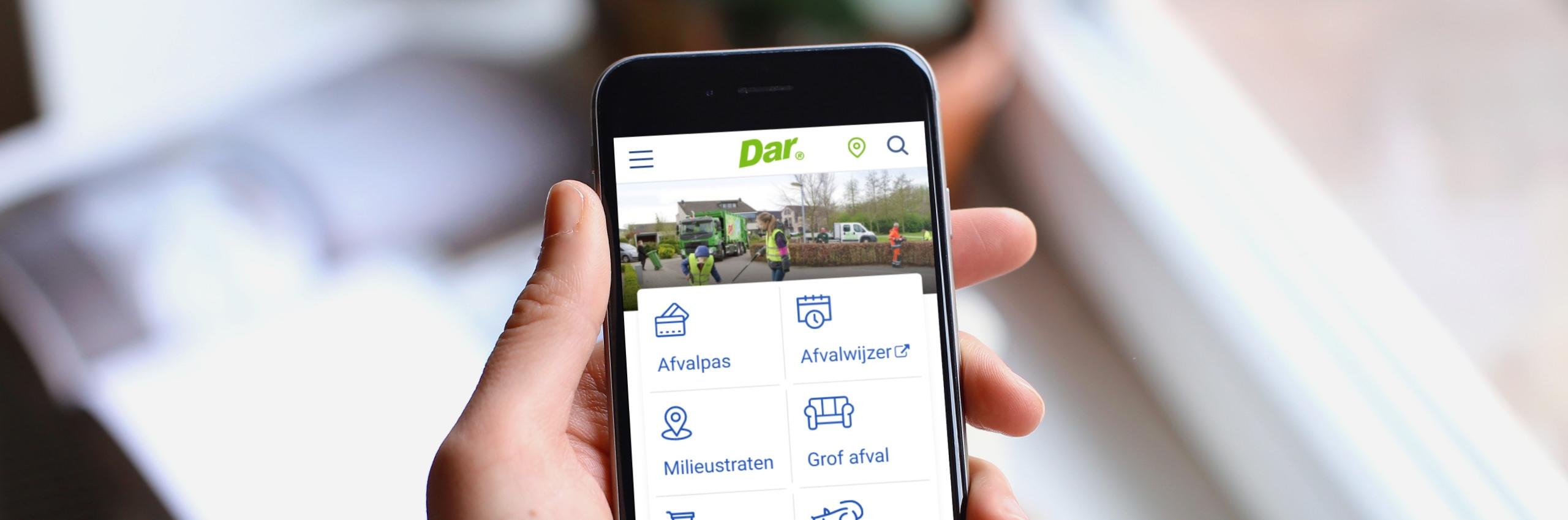 Banner for Dar.nl – Een website die zich aanpast aan de bezoeker