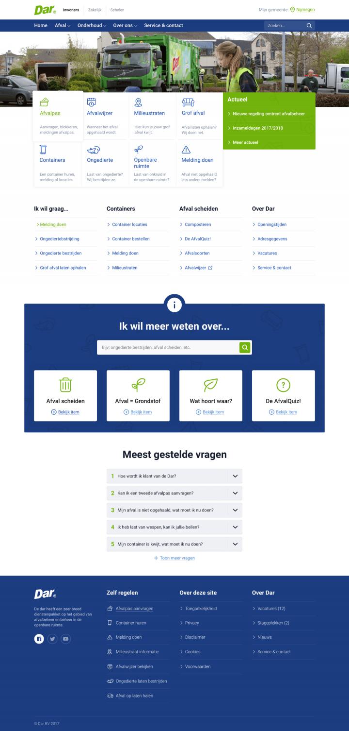 Preview van Dar.nl – Een website die zich aanpast aan de bezoeker