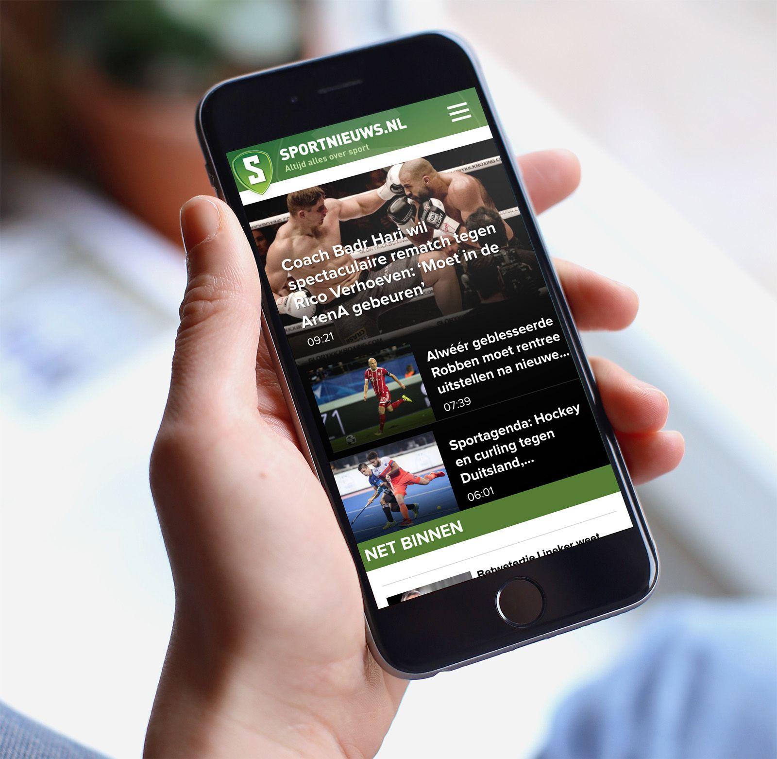 Afbeelding voor Een hogere conversie met mobile-first voor Sportnieuws.nl