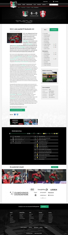 Preview van De officiële website van N.E.C.