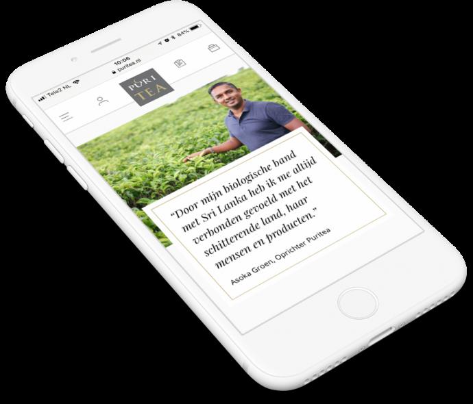 Preview van Puritea.nl – Een webshop voor de complete theebeleving