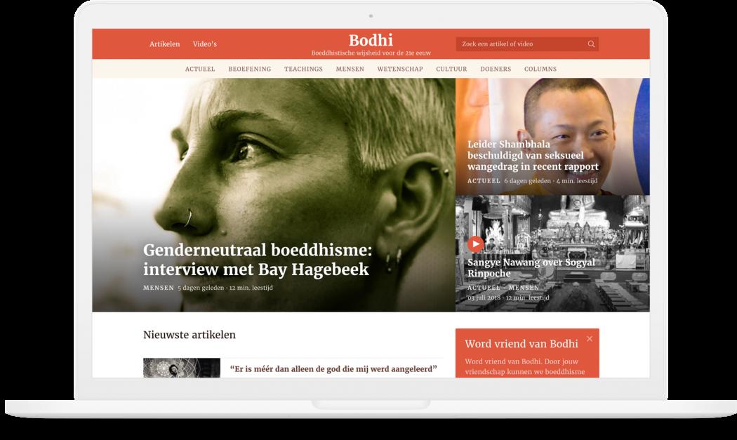 Preview van Bodhitv.nl – Hedendaags Boeddhisme in woord en beeld verpakt