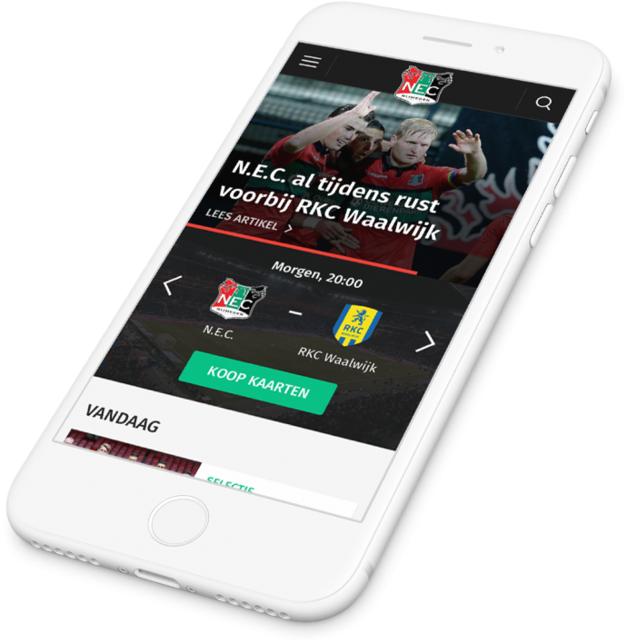 Preview van Een User-Centered en mobile-first N.E.C.