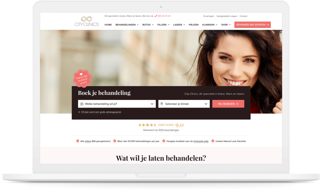 Afbeelding voor CityClinics.nl – Hoe snelheid en gemak leiden tot hogere conversie