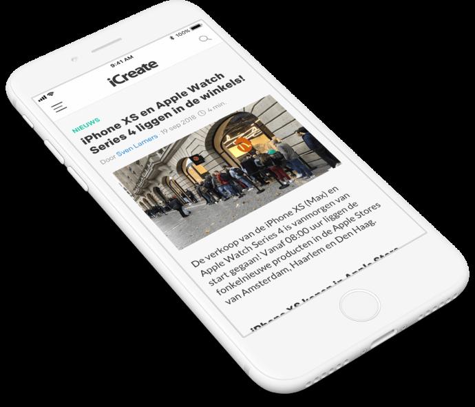Preview van iCreate – Dé website voor de Apple liefhebber