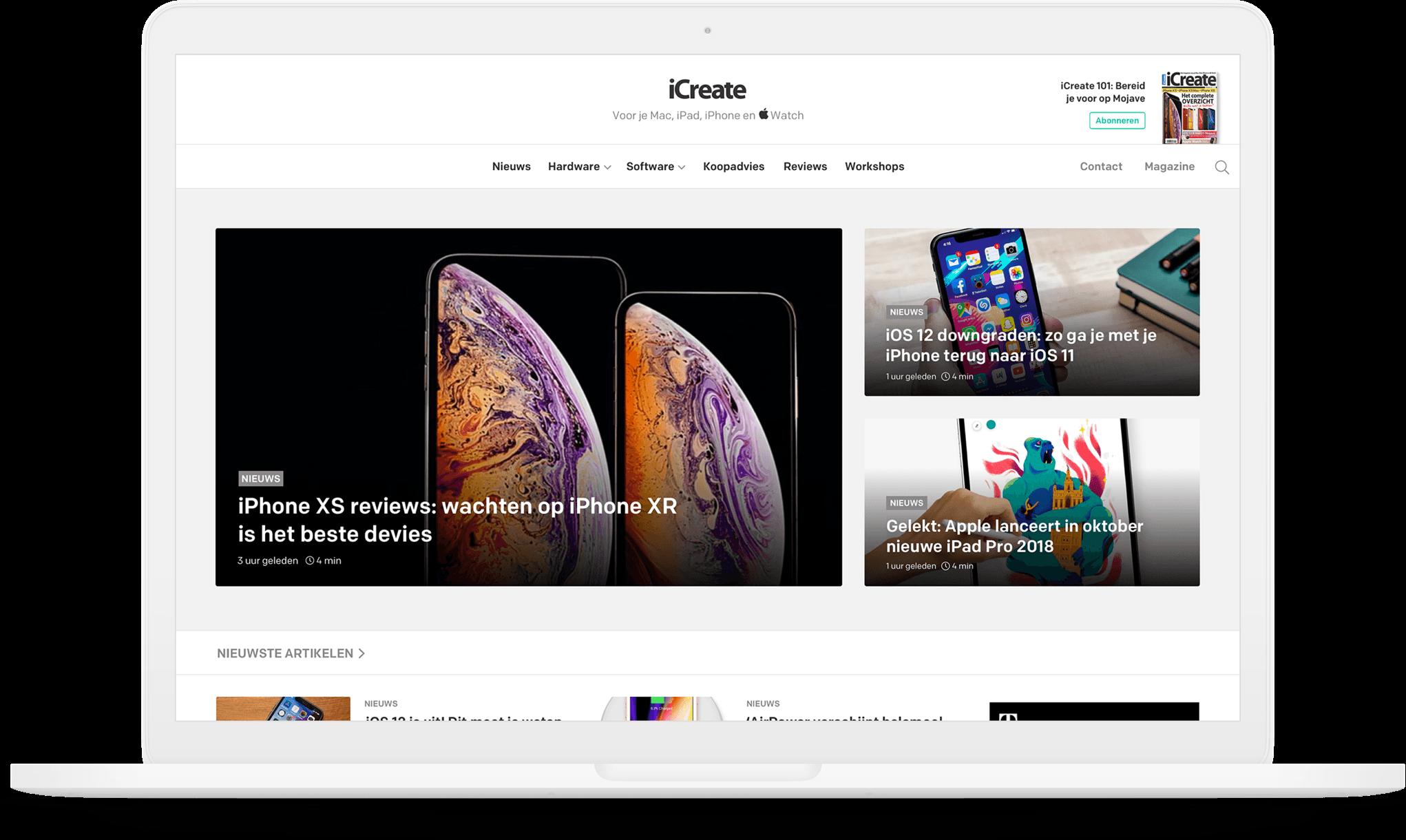 Afbeelding voor iCreate – Dé website voor de Apple liefhebber