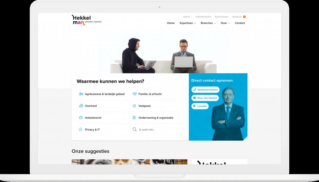 Preview van Een vernieuwde website voor Hekkelman advocaten en notarissen