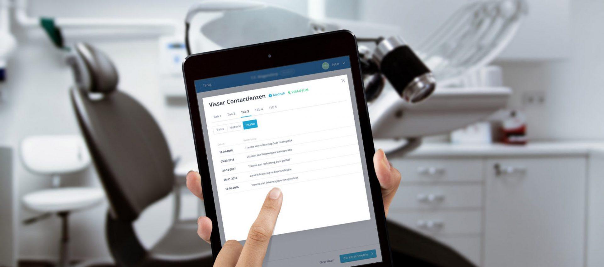 Afbeelding voor Van papier naar digitaal met een webapplicatie voor Visser Contactlenzen