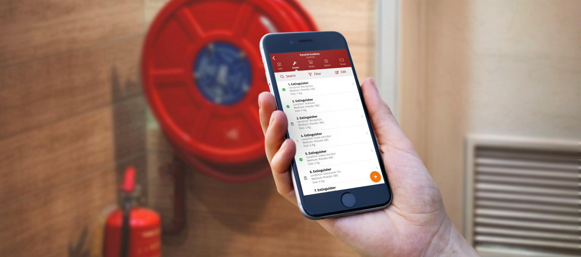 voorbeeld van de walker fire inspectie app