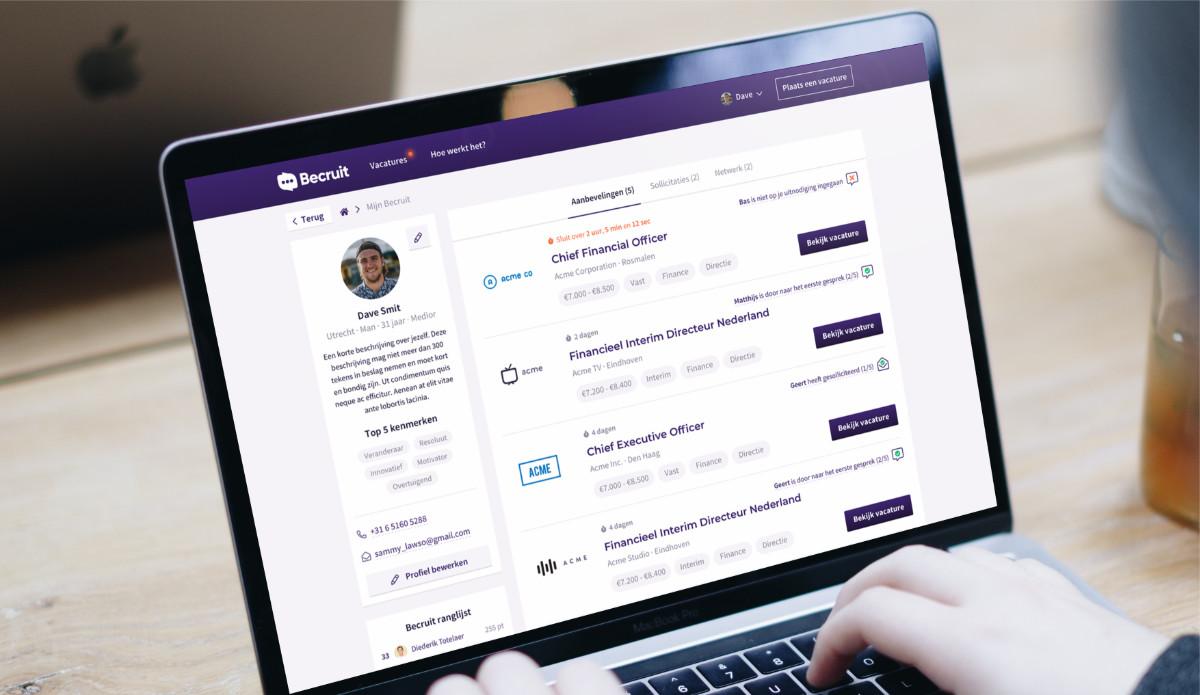 becruit.nl is een maatwerk website