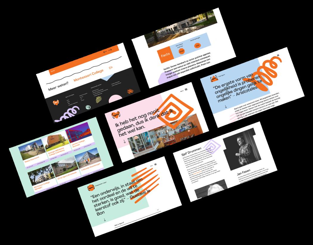 Afbeelding voor Een visuele identiteit voor Agora Onderwijs