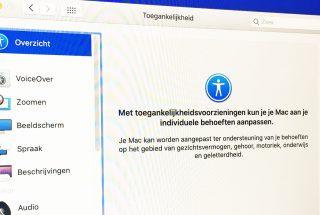 De toegankelijkheidsinstellingen op een iMac.
