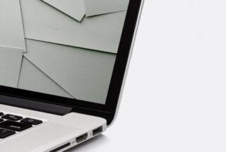 digitale afbeelding van papier op een laptopscherm