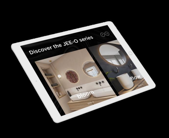 JEE-O serieslider op iPad-formaat