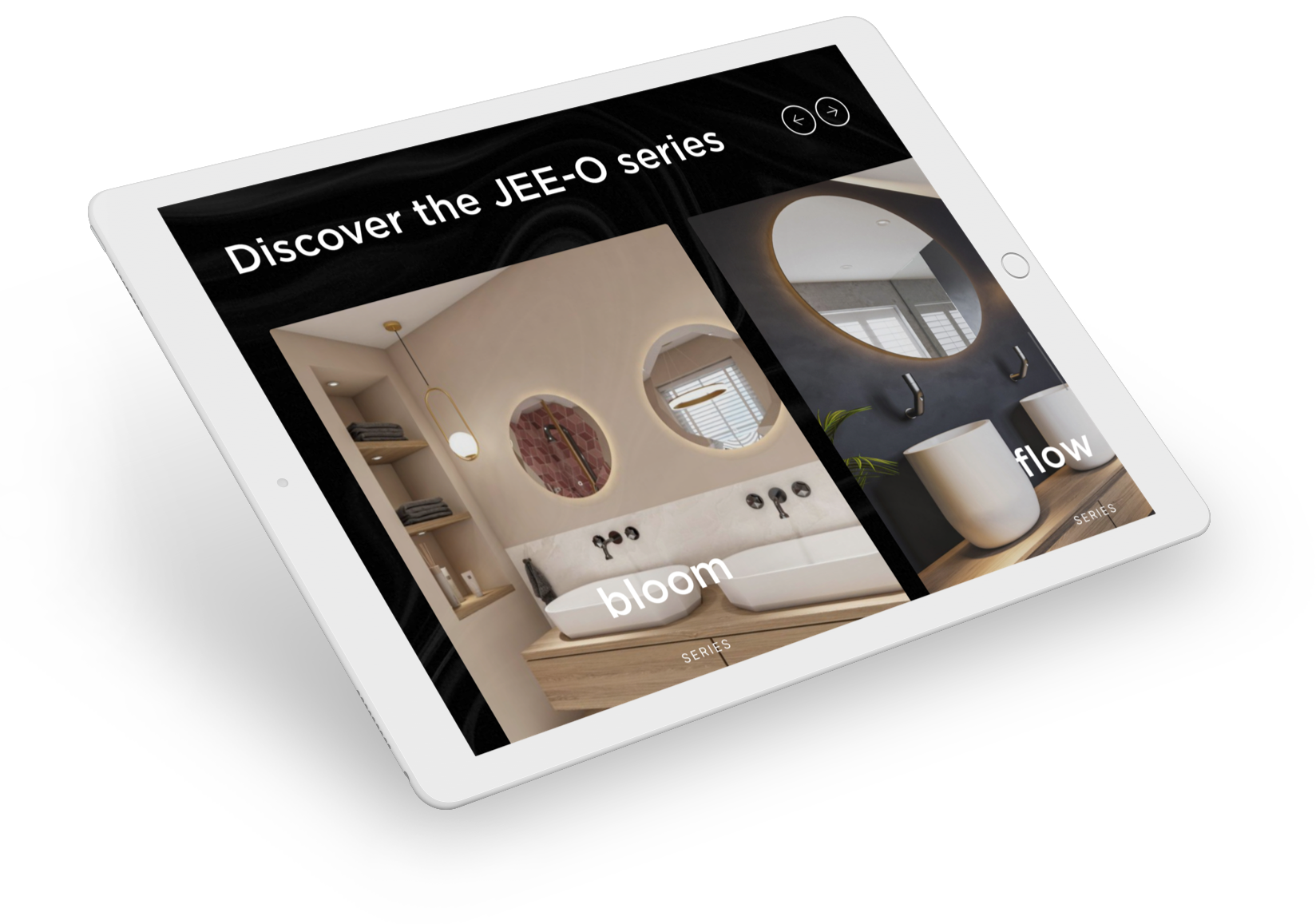 JEE-O website op iPad