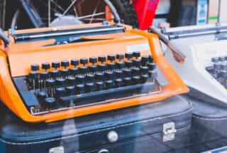 typemachine in etalage