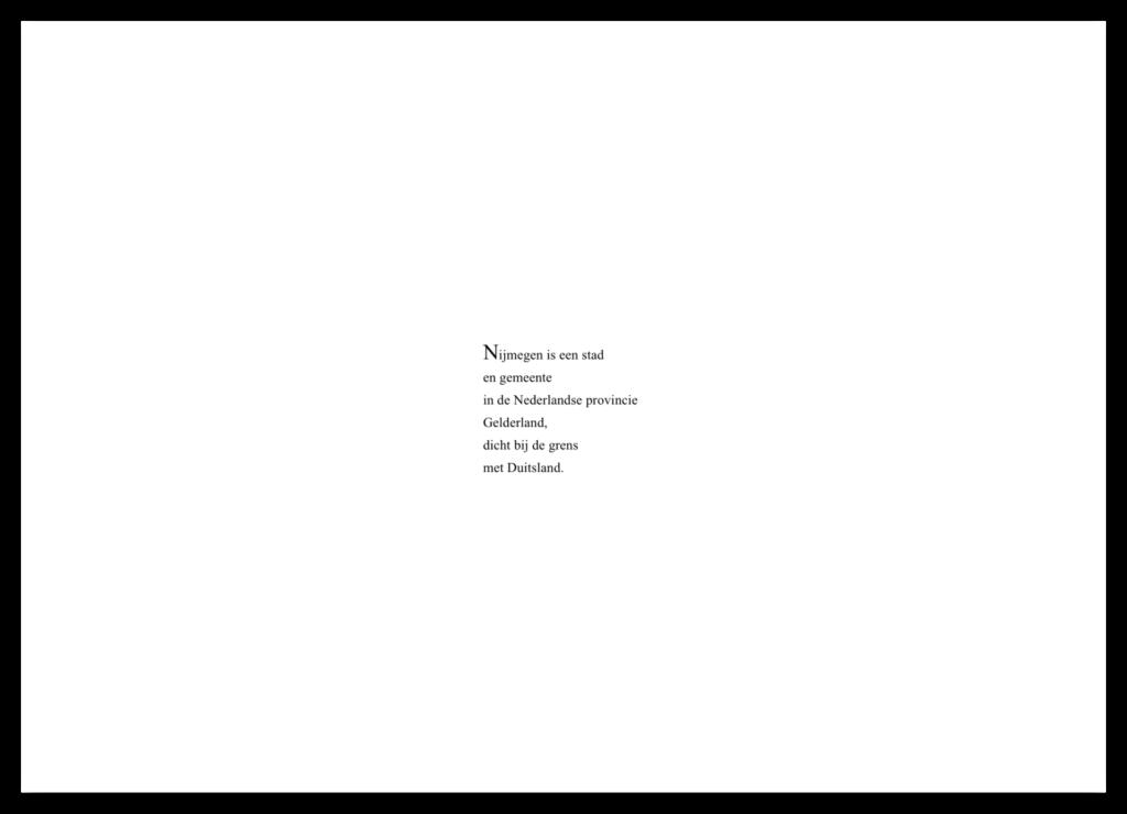 Tekst als poëzie.